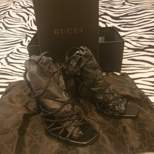 Gucci strapped heels